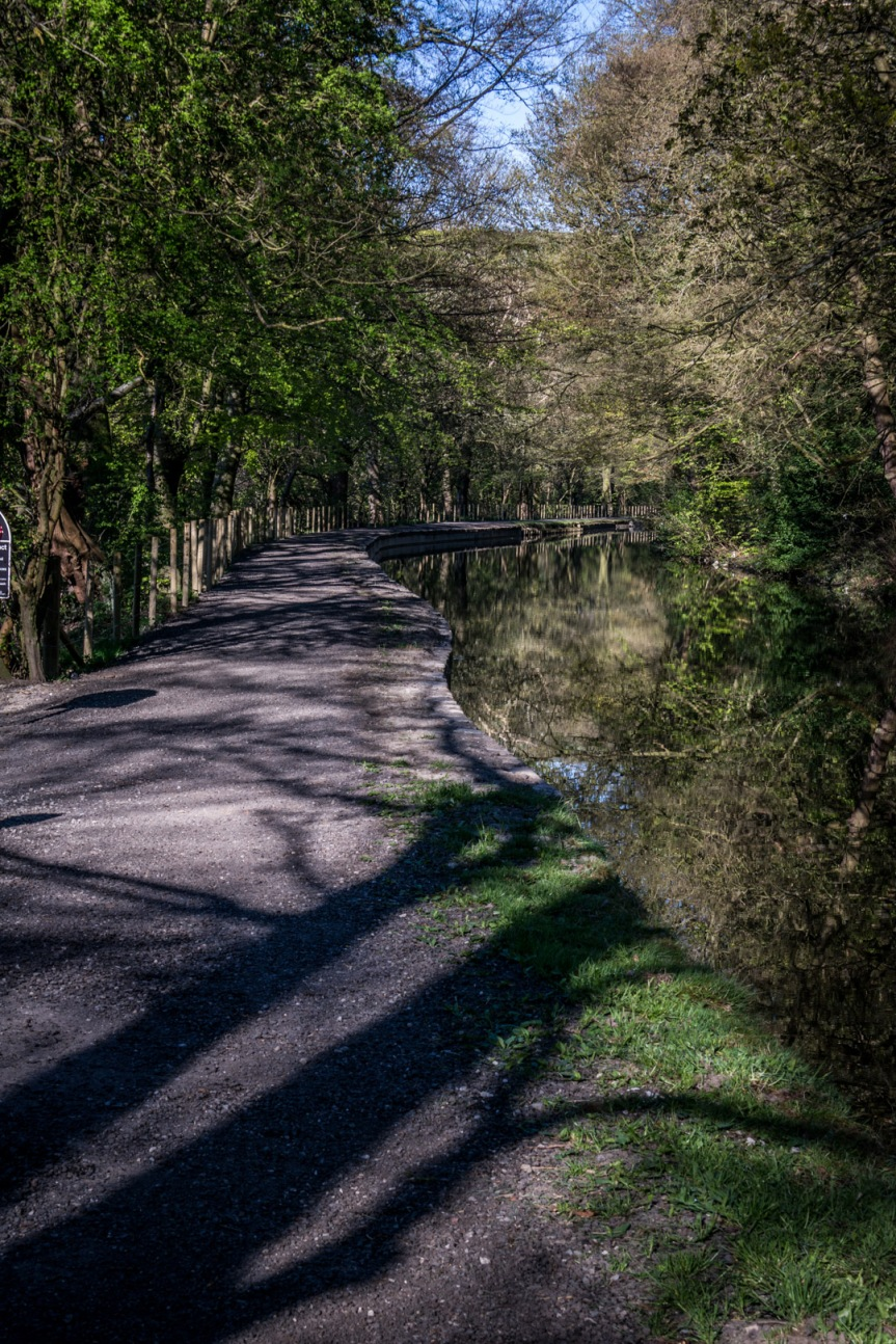 Playing with the new camera – along the canal to Hebden Bridge.